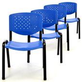 Zestaw 4 krzeseł biurowych