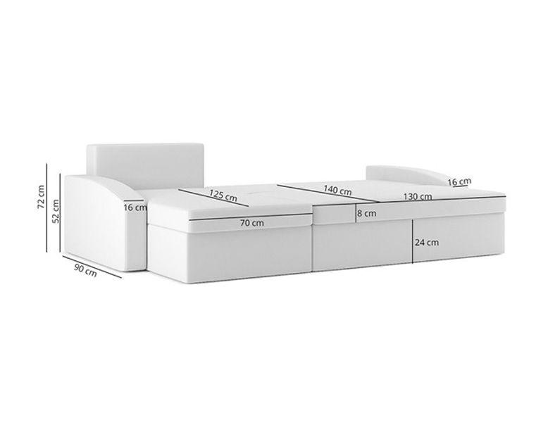 Narożnik HEWLET 1 funkcja SPANIA łóżko ROGÓWKA sofa zdjęcie 7