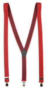 Czerwone szelki w czarne grochy unisex X8