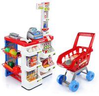 Sklep supermarket dla dzieci kasa waga wózek zakupowy Z07