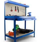 Stół Warsztatowy Garażowy Duży z Szufladą uchwyty Solidny do 100 kg zdjęcie 4