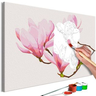 Obraz do samodzielnego malowania - Kwiecista gałązka