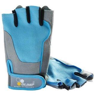 Olimp Rękawice treningowe Fitness One niebieskie Rozmiar - S