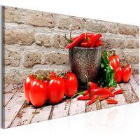Obraz - Czerwone warzywa (1-częściowy) cegła wąski