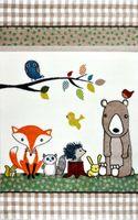 Dywan dla dzieci Diamond Pastel Kids Zwierzęta Leśne 160x230 cm