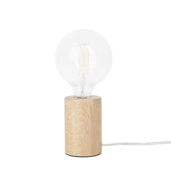LAMPA STOŁOWA BIURKOWA DREWNIANA zdjęcie 6