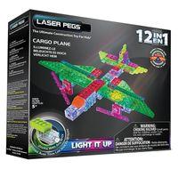 Laser Pegs Świecące Klocki 12W1 Cargo Plane G1670B