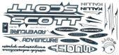 Naklejka KR4 - SCOTT biało-grafitowa