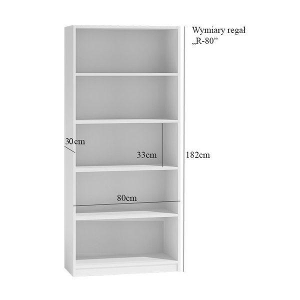 Regał 80cm szafka książki segregatory  r80 biały zdjęcie 4