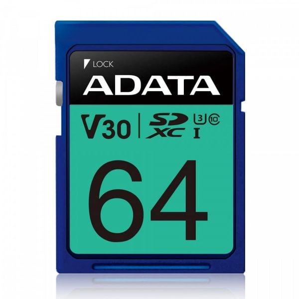 Adata Karta pamięci SDXC PremierPro 64GB UHS-I U3 V30 100/80 MB/s na Arena.pl