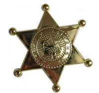 Gwiazda , odznaka szeryfa złota do zabawy