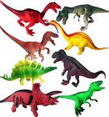 DINOZAURY Figurki Zestaw 8 szt DINOSAUR Gumowe
