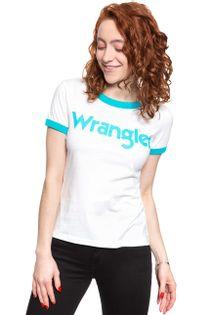 WRANGLER SS RINGER TEE OFF WHITE W7Z3EV737 S