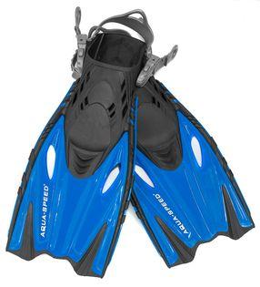 Płetwy do snorkelingu BOUNTY Rozmiar - Płetwy - 32/37, Kolor - Płetwy - Bounty - 11 - niebieski