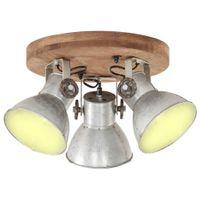 Industrialna lampa wisząca, 25 W, srebrna, 42x27 cm, E27