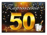 Zaproszenie na 50 urodziny - ZX6801