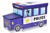 POJEMNIK POLICJA NA ZABAWKI PUFA DLA CHŁOPCA