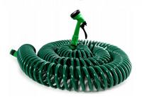 Wąż Ogrodowy Spiralny Wytrzymały 30 M 1/2 Cala + Pistolet 5 funkcji