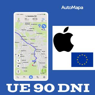AutoMapa Europy licencja na 3m-ce (90 dni) iOS