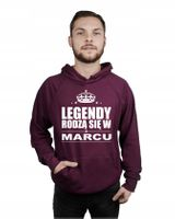 Bluza męska kaptur LEGENDY RODZĄ SIĘ W MARCU XL