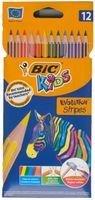 Kredki ołówkowe BIC EVOLUTION Stripes 12 kolorów *