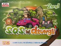 Gra s.o.s. w dżungli 2 gry planszowe dla dzieci ok