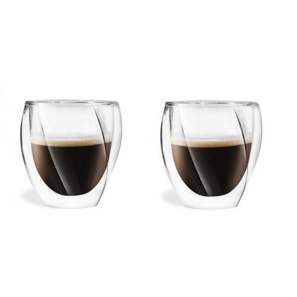 Szklanki Termiczne z Podwójną Ścianką do Kawy Latte Herbaty 250ml 6szt zdjęcie 2
