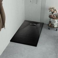 Brodzik prysznicowy, SMC, czarny, 90 x 90 cm