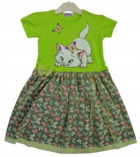 Sukienka Nelli zielona, bawełna roz.122