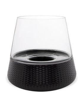 Lampion Stożek okrągły szklany 25,5x26,5x26,5 cm