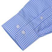 Męska Koszula Biała W Błękitną Kratkę Rozmiar Xxl zdjęcie 3