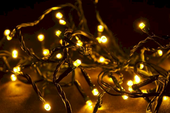 Lampki świąteczne 300 LED ciepłe białe