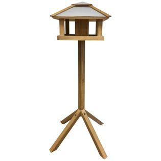 Esschert Design Karmnik dla ptaków, kwadratowy, stalowy daszek, FB433