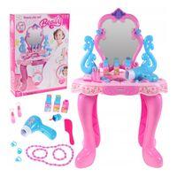 Piękna toaletka dla dziewczynki z suszarką i obrotowym lustrem Y208