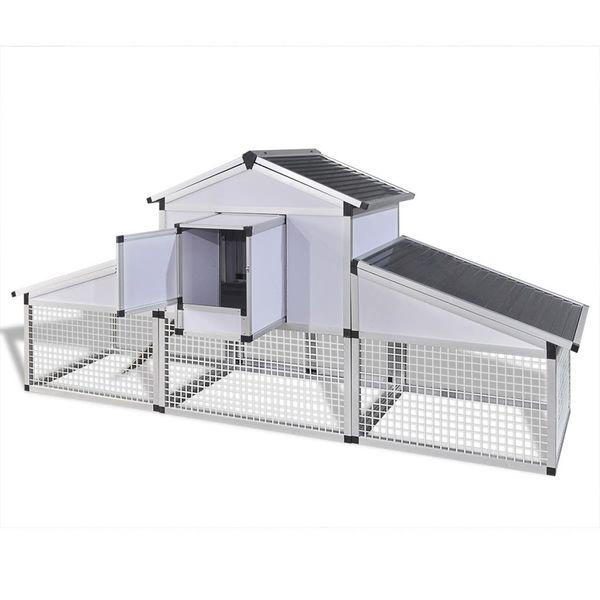 Aluminiowy kurnik z gniazdem i wybiegiem zdjęcie 5