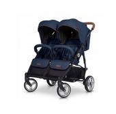 EasyGo Domino wózek dla bliźniąt spacerowy bliźniaczy DENIM wys.0zł