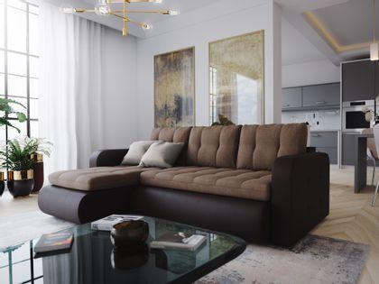 Sofa Narożnik rozkładana Pikowany