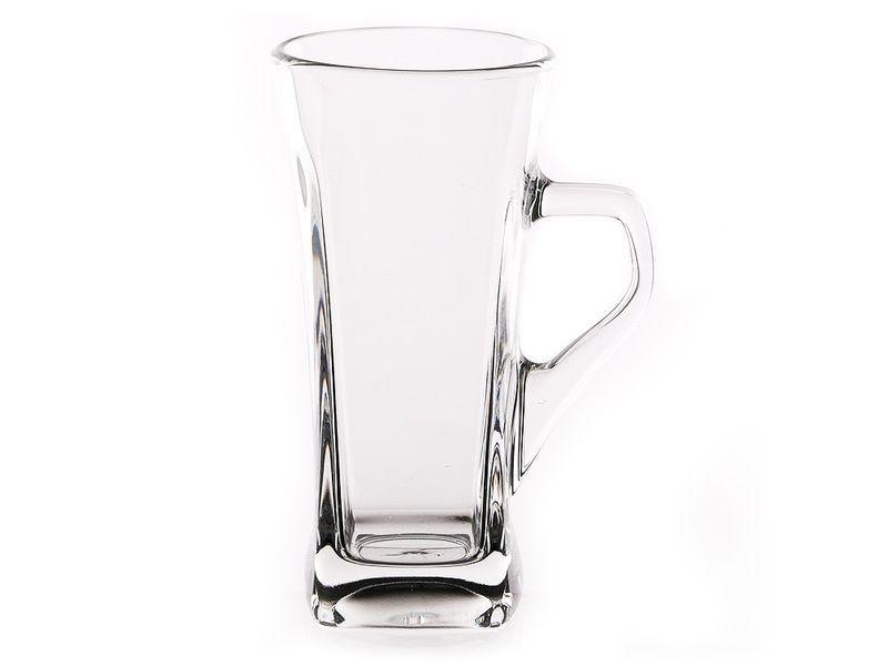 Kubek szklany szklanka kwadratowa latte 330 ml GEO zdjęcie 1