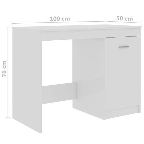 Biurko z szafką biały połysk 100x50x76cm VidaXL na Arena.pl