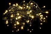 Lampki świąteczne 40 LED, ciepłe białe