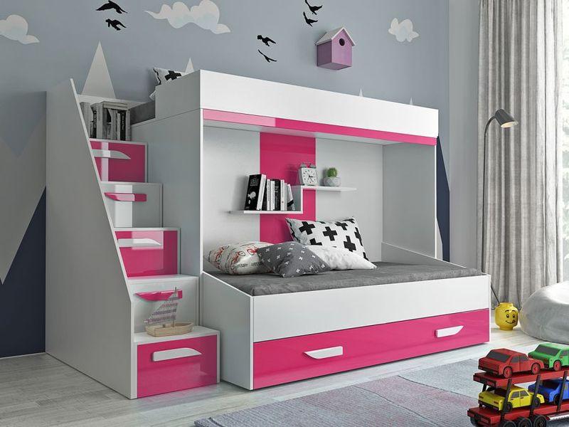 łóżko Piętrowe Dla Dzieci Meble Młodzieżowe Antresola Party 16