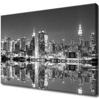 Obraz Na Ścianę 70X50 Manhattan Nocą Manhattan Sk