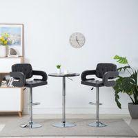 Obrotowe krzesła barowe, 2 szt., czarne, sztuczna skóra