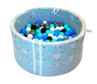 Bezpieczny suchy basen dla dzieci na 150 piłeczek - miętowe serduszka