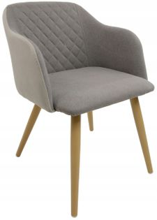 Fotel Dankor Design Diamond Szary / c. beż
