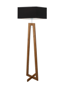 Lampa podłogowa z drewnianym stelażem JAWA E27