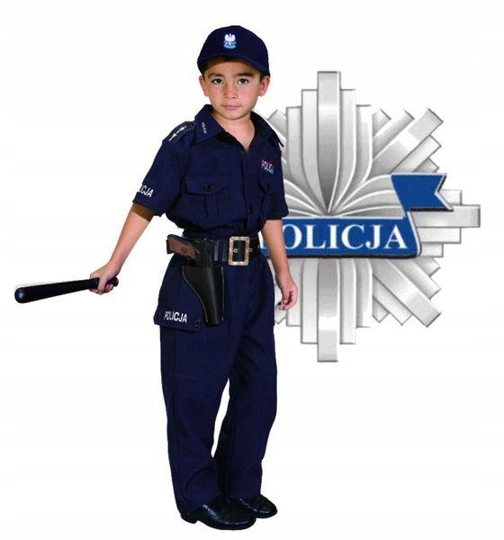 POLICJANT Polski Strój KARNAWAŁOWY 128 Kostium BAL zdjęcie 3
