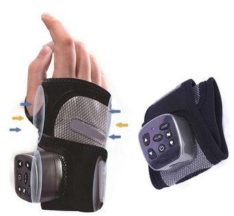 Masażer dłoni, nadgarstka, masaż wibracyjny, grzanie, poduszki powietrzne, masaż pneumatyczny