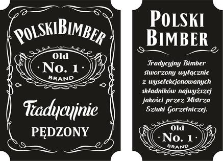 16x Etykiety nalepki POLSKI BIMBER wódkę alkohol naklejki na butelki