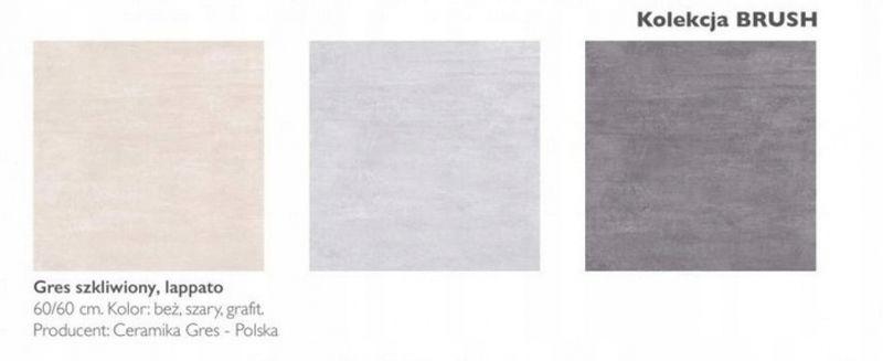 Płytki Ceramika Gres Brush Szary 12 60x60 Arenapl